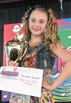 Hannah Howard KaraokeFest 2012 Creme de la Kids Winner